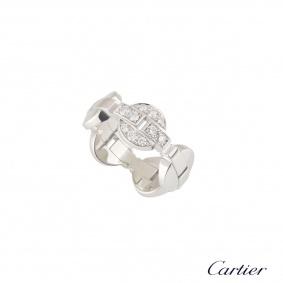 Cartier White Gold Diamond Himalia Ring N4193253